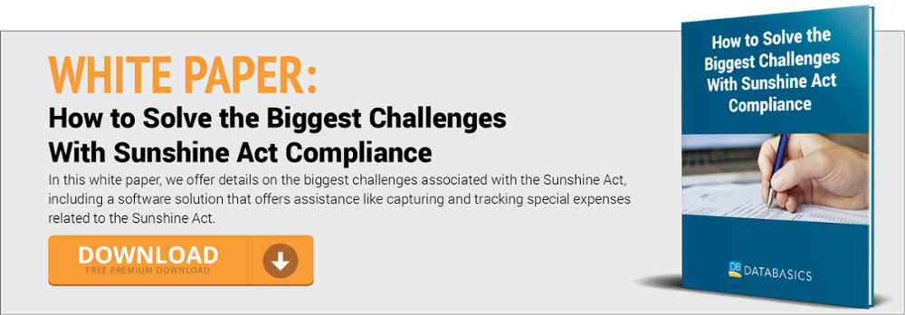 How To Solve The Biggest Challenges With Sunshine Act Compliance