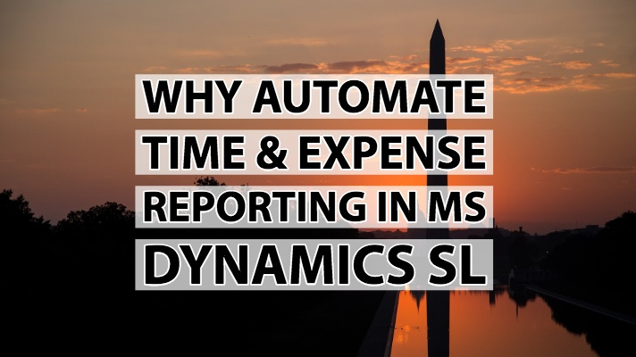Why MS Dynamics SL Users Need time & expense Automation